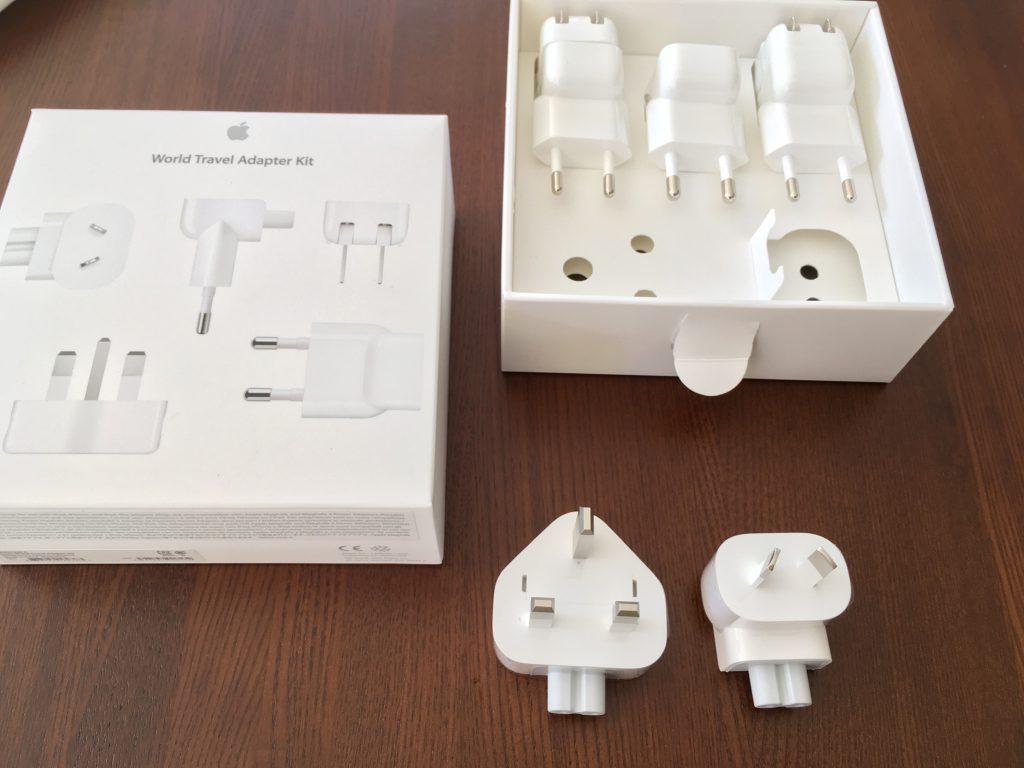ニュージーランドや台湾、香港アメリカなど世界でmacやアイフォンを充電するためのアダプタ。
