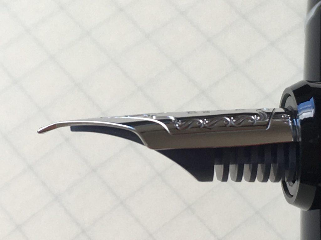 パイロット万年筆カスタムヘリテイジ912極細字POポスティングはEFの先端を曲げたもの
